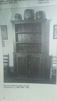 Open-top cupboard, pine and poplar made in 1850 in Pennsylvania The New and Revised Catalog of American Antiques by William Ketchum