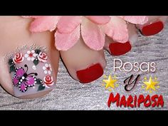 Merry Christmas Gif, Butterfly Nail Art, Toe Nail Designs, Manicure And Pedicure, Toe Nails, Nails Inspiration, Cute Animal Photos, Youtube, Christmas Nail Designs