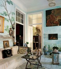 tray table, wall painting, style of furniture