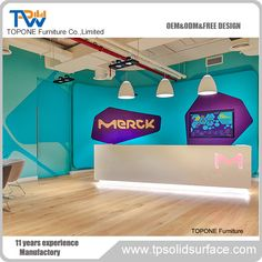 Topone Furniture Co. Salon Reception Desk, Reception Desk Design, Reception Counter, Corian Solid Surface, Table Desk, Dinner Table, Kitchen Countertops, Free Design, Office Desk