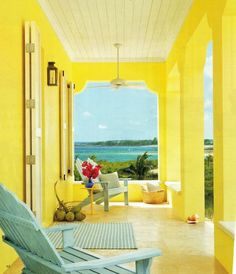 Yellow rooms against