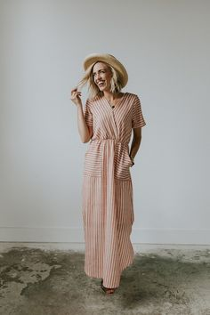Wrap Top Maxi with Pockets | ROOLEE