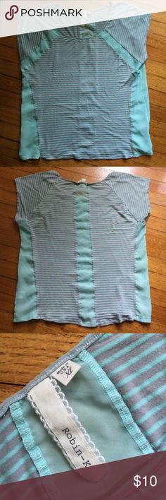 Striped t-shirt. XL Striped t-shirt. XL. Sheer down the sides & down the back. Tops Tees - Short Sleeve