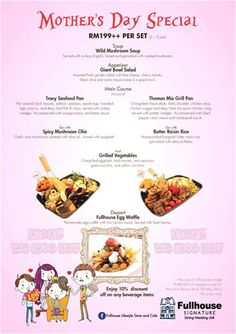 9-10 May 2015: Fullhouse Lifestyle Store and Cafe Mothers Day Special