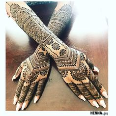 41 Ideas bridal mehendi designs hands indian weddings henna mehndi for 2019 Henna Hand Designs, Mehndi Designs Finger, Wedding Henna Designs, Indian Henna Designs, Latest Bridal Mehndi Designs, Mehndi Design Photos, Best Mehndi Designs, Dulhan Mehndi Designs, Mehandi Designs