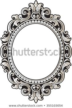 Vector vintage border frame engraving with retro ornament pattern in antique rococo style decorative design - Houses interior designs Images Vintage, Vintage Frames, Vintage Stuff, Flash Tattoos, Time Tattoos, Vintage Frame Tattoo, Framed Tattoo, Tattoo Frame, White Tattoos