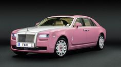 For charity, Rolls-Royce creates a blushing pink Ghost- just like Lady Penelopes!  LOVE <3