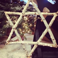 Love this Lit Star of Mogen David made from eco friendly white birch tree wood. This would be beautiful for just about any Jewish holiday: Rosh Hashanah, Sukkot, Hanukkah, or Pesach.