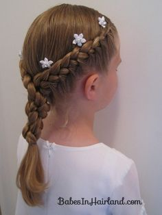 Half French Braids with a Twist