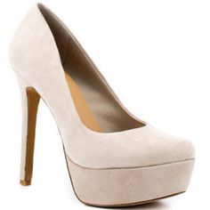 Jessica Simpson Ecru Suede Pump want these shoes again so bad... Can't find them anywhere :((((