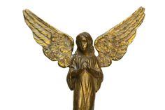 Vintage Ormolu Angel. Brass Angel. Angel Wings. by LeBonheurDuJour, $60.00