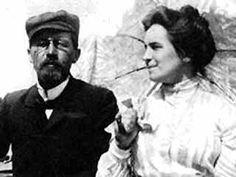 Chekhov et Olga en 1901 Anton Chekhov, Russian Art, Short Stories, Storytelling, The Selection, Literature, Authors, Writers, Photography