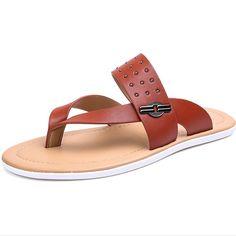 Aliexpress.com: Comprar Lo nuevo 2015 Zapatos Hombre Hombre verano zapatillas moda Casual transpirable masaje pisos sandalias de cuero genuino amarillo 38 43 de Planos fiable proveedores en yongpeng-zhu