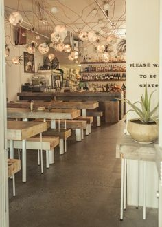 Tacofino Restaurant's award winning interior.
