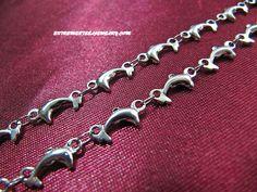 Ladies 316L Stainless Steel Bracelet 4mm Dolphin Link