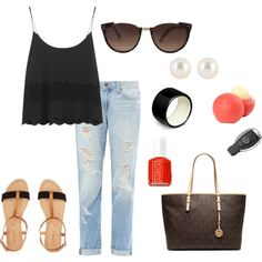 """""""Boyfriend Jeans"""" by angelicadonnelly on Polyvore"""