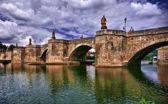 beautiful Bridge at Wurzburg, Germany