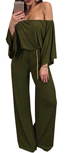 Joe Wenko Women Romper Loose Playsuit Casual Trousers Long Sleeve Jumpsuit