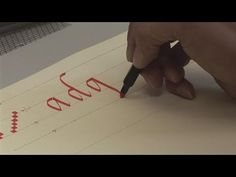 ▶ How To Start Writing Calligraphy - YouTube