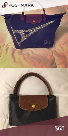 Longchamp mini tote Navy blue Eiffel Tower mini tote. Never used. Purchased in Paris, France Longchamp Bags Totes