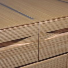 Plywood Interiors // NADAAA Architects Wood Creations - really well-executed stacked-plywood furniture pieces.