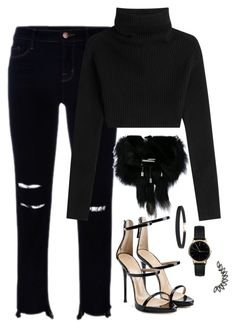 """Untitled #2942"" by theaverageauburn on Polyvore featuring J Brand, Valentino, Tod's, Giuseppe Zanotti, Humble Chic and Freedom To Exist"