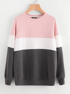 Shop Cut And Sew Raglan Sleeve Sweatshirt online. SheIn offers Cut And Sew Raglan Sleeve Sweatshirt & more to fit your fashionable needs.