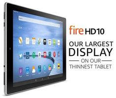 Fire HD 10 Tablet, HD Display, Wi-Fi, 16 GB Black in Computers/Tablets & Networking, Tablets & eBook Readers Quick Jokes, 10 Logo, 10 Inch Tablet, Fire Tablet, Amazon Kindle Fire, Entertainment, Screen Replacement, Tempered Glass Screen Protector, Shopping