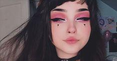 Goth Eye Makeup, Pastel Goth Makeup, Anime Makeup, Kawaii Makeup, Grunge Makeup, Gothic Makeup, Cute Makeup Looks, Creative Makeup Looks, Pretty Makeup