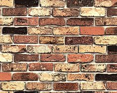Peel & Stick Brick Pattern Wallpaper : ft) X ft)] Wall Decor Self-Adhesive Contact Paper - Made in South Korea (Not China) - Shipping by Pantos Express (approx 7 ~ 15 Business days) Brick Wallpaper Peel And Stick, Brick Pattern Wallpaper, Vinyl Wallpaper, Self Adhesive Wallpaper, Peel Stick Backsplash, Countertop Backsplash, Faux Brick, Brick And Stone, Exposed Brick