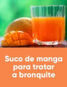 O suco de manga é um excelente remédio caseiro para bronquite porque a manga, além de ser uma fruta deliciosa, tem efeito expectorante que diminui as secreções e facilita a respiração.