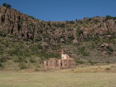 Remains of officer's quarters at Ft. Davis in the Davis Mountains, far west Texas.  Hill Country Mysteries: Man vs. Mountain