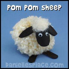 Pom Pom Sheep Craft from www.daniellesplace.com