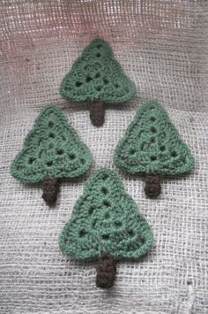 Crocheted Granny Square Tree Ornament by SherrysSewingandCroc, $3.00