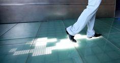LED Floor Captures Digital Footprints