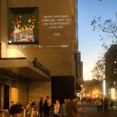 GIF the Halls Will Project Personalized Animated Holiday Cards on Buildings in San Francisco in December