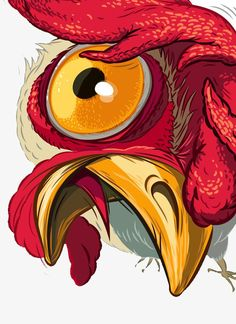Exaggerated male chicken illustration PNG and PSD Art And Illustration, Chicken Illustration, Illustrations And Posters, Rooster Illustration, Sketch Manga, Chicken Art, Chicken Tattoo, Chicken Drawing, Desenho Tattoo