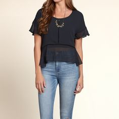Girls Salt Creek Sheer Boxy Tee | Girls Tops | HollisterCo.com