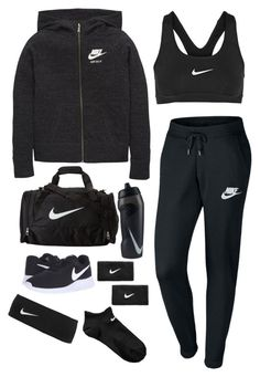"""""""#gymoutfit #NIKE #contest"""" by queen0214 ❤ liked on Polyvore featuring NIKE, contest, nike, like4like and Gymoutfit"""