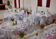 Ružová ombre svadobná výzdoba /Pink ombre wedding decoration