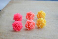 Flower Stud Earrings R