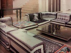 Simple cushion imprinted floor seating