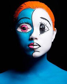 Colorful Makeup Masterpieces Inspired By Japanese Pop Art Japanese Pop Art, Japanese Artists, Takashi Murakami, Pop Art Face, Art Visage, The Face, Make Up Art, Maquillage Halloween, Inspiration Art