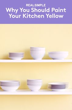 Why You Should Paint Your Kitchen Yellow | If you're selling your house, this hue can give you a better selling price.