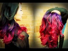 black purple pink hair | ... Tutorial on Youtube!!! && Purple to Pink Ombre!! *Done on Black hair
