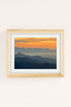 Slide View: 1: Guido Montanes Sunset Mountains Art Print