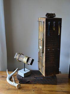 jewelry display / / rotating / / barn wood by pratherteam on Etsy