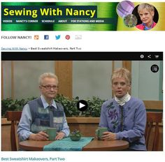 Restyling, revising, and repurposing are trending terms. When you tag on the word sweatshirts, you might think of my friend and Sewing With Nancy guestMary Mulari. Since the early years of my prog...
