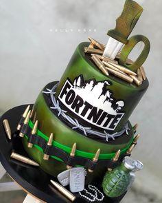 Beautiful Birthday Cakes, Beautiful Cakes, Amazing Cakes, Soccer Birthday Cakes, 9th Birthday, Call Of Duty Cakes, Bolo Fack, Paper Cake, Cakes For Boys