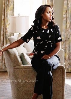 There Is Nothing Scandalous About Olivia Pope's Geometric Print Top